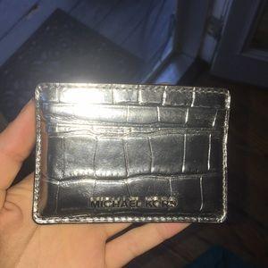 Michael Kors Metallic Card Holder